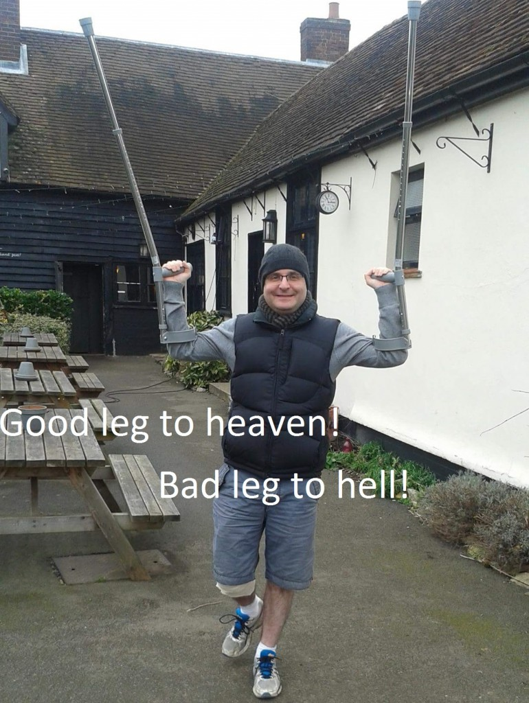 """Good leg to heaven! Bad leg to hell!"""