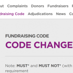 Changes to the Code of Fundraising Practice, and more…
