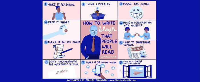 How to write blogs that people will read (with added Sketchnote!)
